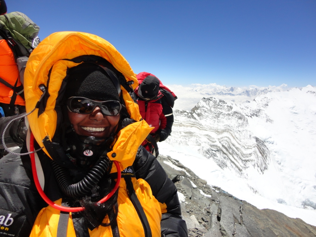 Climbing on Mt. Everest 2012